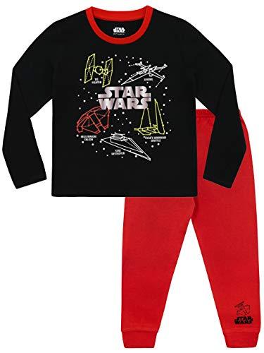 Star Wars Jungen Krieg Der Sterne Schlafanzug Rot 158