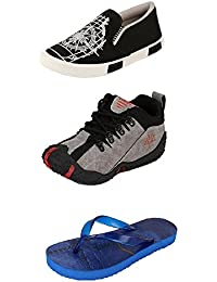 Jabra Perfect Combo Pack Of 2 Shoes- Sneakers And Loafers & Slippers For Men In Various Sizes - B06XVZD7GD