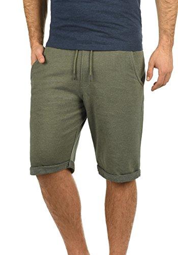 Blend Antique Herren Sweatshorts Kurze Hose Sport-Shorts aus hochwertiger Baumwollmischung Meliert, Größe:XL, Farbe:Dusty Olive Green (77203)