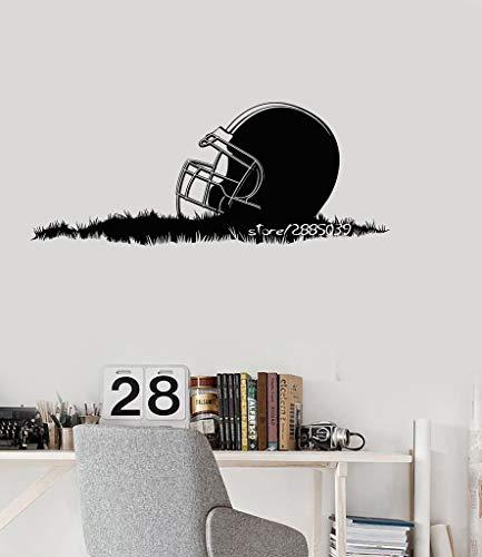 42X105 cm American Football Helm Wandaufkleber Abnehmbare Vinyl Wandtattoos Decor Sport Jungen Zimmer Perfekte Qualität Wandbild Poster