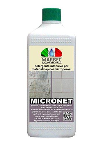 Marbec - MICRONET 1LT | Detergente intensivo per gres porcellanato e materiali lapidei microporosi