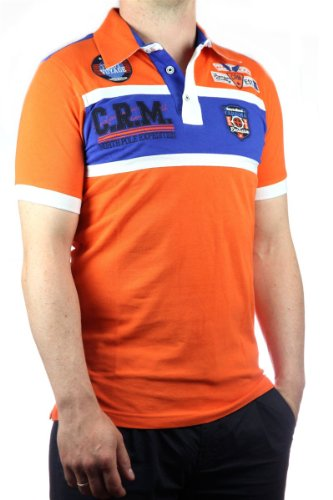 Carisma Herren Polo-Shirt 4032 Hemd Yachting in verschiedenen Farben, men polo pique Orange-Blau