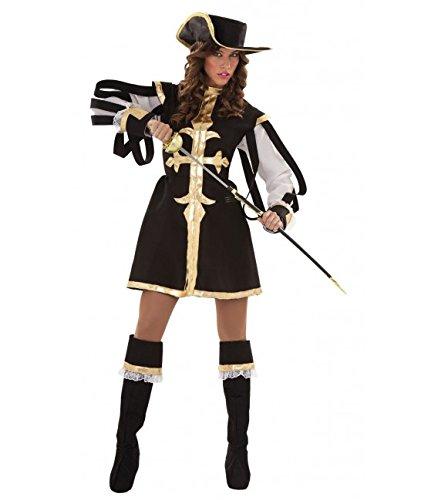Imagen de disfraz de mosquetera negra para mujer talla m l