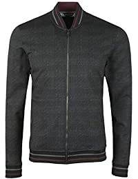 ec03b1dfcc3f74 Ted Baker Tootie Mens Black Zip Through Bomber Jacket