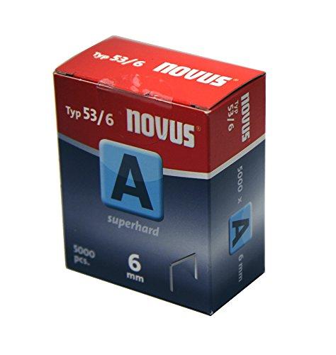 Novus 042-0516 Carton de 5000 Agrafes fines 53/6 Rouge