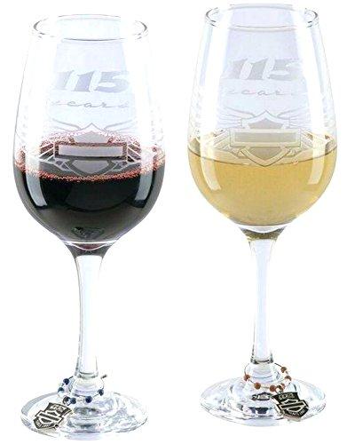 H-D 115. Anniversary Weinglas Set | inklusive Charm Marker–hdx-98702