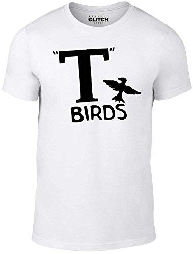 n T Birds T-Shirt (Weiß, Klein) (Sandy Grease Cheerleader)