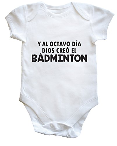 HippoWarehouse Y Al Octavo Día Dios Creó El Bádminton body bodys pijama niños niñas unisex