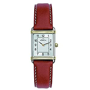 Art Deco Women'Michel Herbelin Damen Armbanduhr Analog Quarz Leder braun KL101 17478 Set/4/T22GO