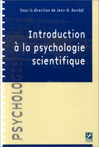 Introduction à la psychologie scientifique