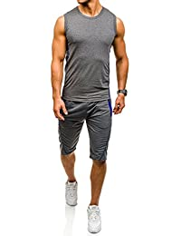 BOLF – T-shirt de sport – Short de sport – Survêtement – Fitness – Training – Motif – Homme 8H8