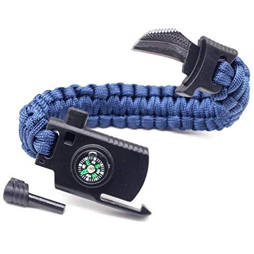 cicadi Multifunktionales Überlebens Armband mit Kompass Magnesium Rods Feuerstein Messer