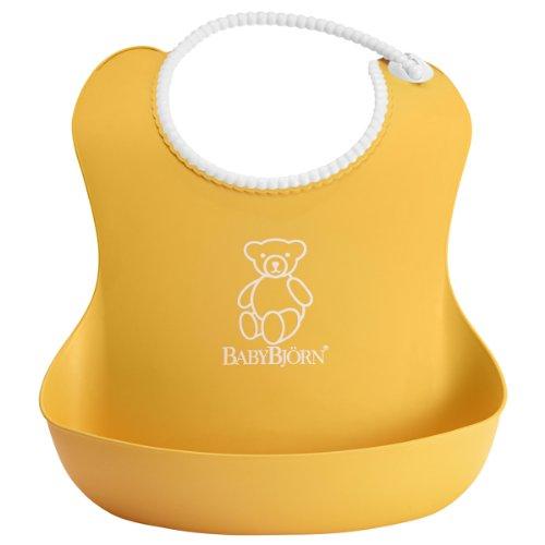 BabyBjörn 046260 Weiches Lätzchen, gelb (Ganzkörper-bib)