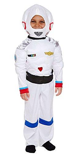 Kinder Weiß Astronaut Space Boy Kostüm Gr. M , (Kid Astronauten Kostüme)