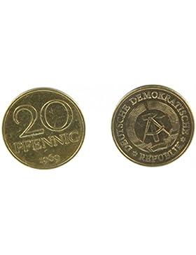 20 Pfennig DDR Manschettenknöpfe Miniblings Münzen Manschetten 20 Pfennig gold