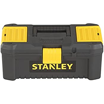 """Stanley STST1-75521/"""" Essential 19/"""" Toolbox with Metal latches Black//Yellow,"""