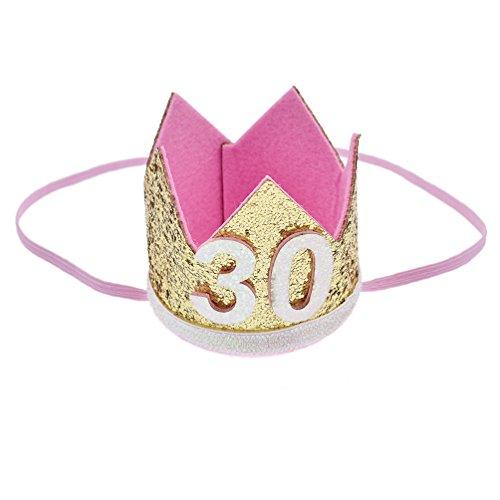 s Krone Hut mit Pailletten Damen Frauen Party Kopfschmuck Zubehör Verstellbar ()