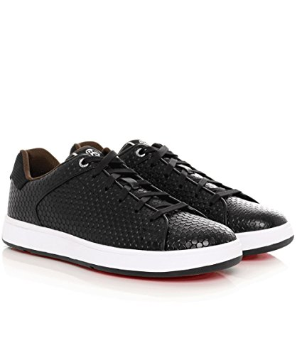 PS by Paul Smith Hommes Cuir texturé Serge formateurs Noir Noir