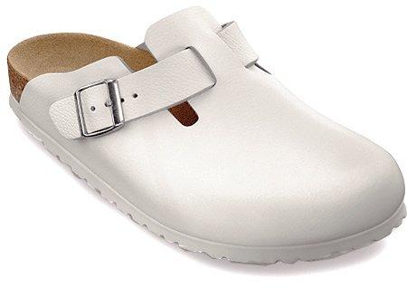 Birkenstock Boston 260331, Chaussures mixte adulte cuir blanc
