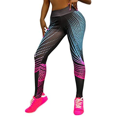 XZDCDJ Lange Yogahose Damen High Waist Skinny Hose Frauen digital Bedruckte High Taille Sport Fitness Laufen Yoga Neun Minuten Hosen(A,XL) (Pro-5-basketball-shorts)