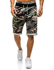 BOLF – Pantalons de sport – Pantalons courts – Training – Army – Camouflage – Motif – Homme [7G7]