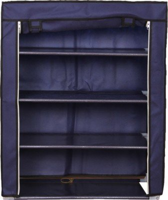 MeRaYo™ 4 Layer Multipurpose Portable Folding Shoe Rack With Wardrobe Cover