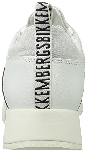 Donna 060 Collo Odissey Whiteblack Basso Sneaker Bikkembergs a Bianco W6qPUzWw