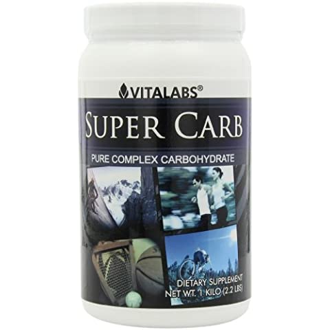 Vitalabs Super Carb Powder, Pure Complex Carbohydrate, 2.2 Pounds Plastic Jars by Vitalabs
