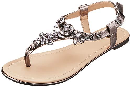 Buffalo Shoes Damen 14S07-21 Zehentrenner, Grau (Pewter 01), 40 EU Buffalo Jeans-rock