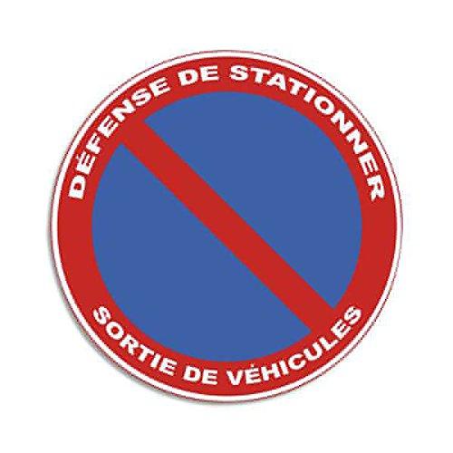 Lot de 2 Plaques de signalisation auto-adhésive en PVC \
