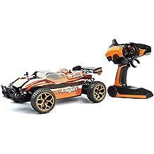 GizmoVine RC Coche Radio Control 4WD de Alta velocidad Arena Escala 1:18 Mando a Distancia de 2,4Ghz Coche de Carreras Eléctric Vehículo con Batería Recargable Color Naranja