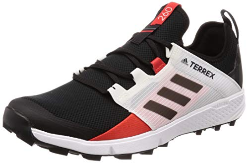 adidas Terrex Agravic Speed +, Zapatillas de Marcha Nórdica para Hombre, Negro Core Black/Active Red, 46 EU