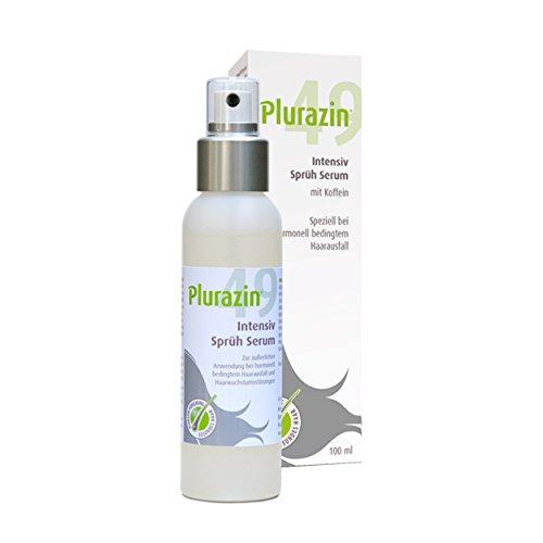 Plurazin 49 Intensiv Sprüh Serum | Stimulation der Haarfolikel bei Haarausfall und Haarwachstumsstörungen in den Wechseljahren, Menopause | mit Arginin, Ginkgo Biloba, natürlichem Koffein hochdosiert