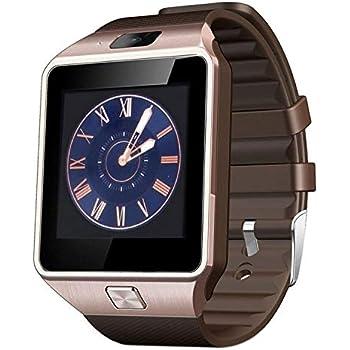 XZANTE Dz09 Reloj Inteligente Reloj de Pulsera Soporte con Cámara Bluetooth Tarjeta de Sim TF Reloj Inteligente para iOS Android Phones Oro