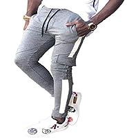 Pantalones Casuales para Hombre Pantalones Deportivos Al Aire Libre De Tiras Finas Pantalones De Cintura con Cordón Pies De Viga Pantalones M-3XL