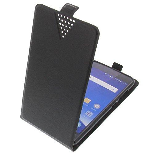 Tasche für Mobistel Cynus F10 Flip Style Ultra-dünn Schutz Hülle Schwarz