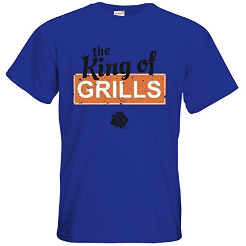 getshirts - SizzleBrothers Merchandise Shop - T-Shirt - SizzleBrothers - Grillen - King Of Grills Royal Blue