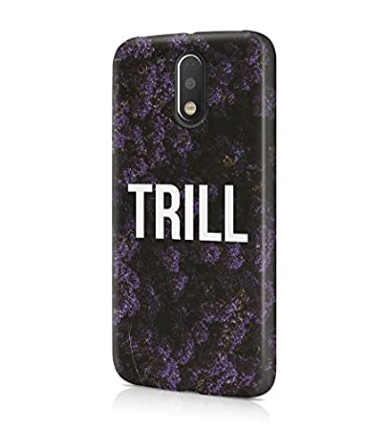 Trill Dark Purple Wild Flower Pattern Durable Hard Plastic Snap On Phone Case Cover Shell For Motorola Moto G4 Plus Coque Housse Etui