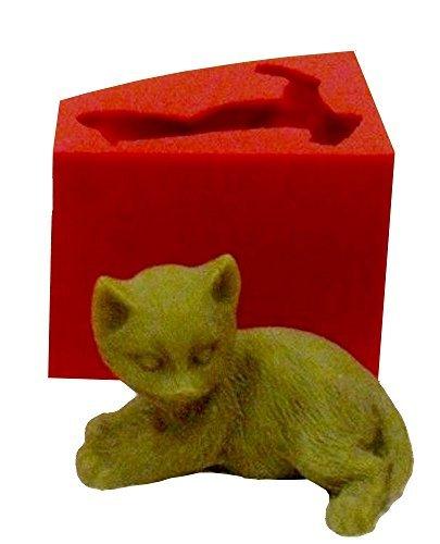 Inception Pro Infinite Molde de Silicona para Uso Artesanal de un Gato 3D agachado - También Adecuado para Velas