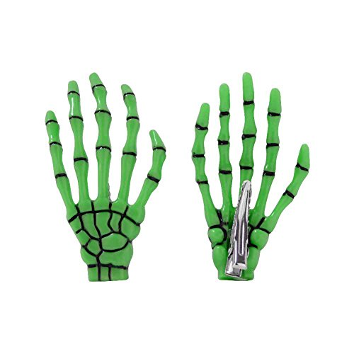 Dark World Skelett Hand Haarspange Officially Licensed Merchandise Haarklammer Halloween Fasching Mottoparty Frankenstein Cosplay Hand Glow (84132-005-0000)