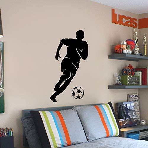 jiushizq Aufladen Fußball SpielerWandkunstAufkleber Benutzerdefinierte Größen Erhältlich Sport Fans Schlafzimmer Wohnkultur E-co Freundliche VinylAufkleberZ91x175 cm