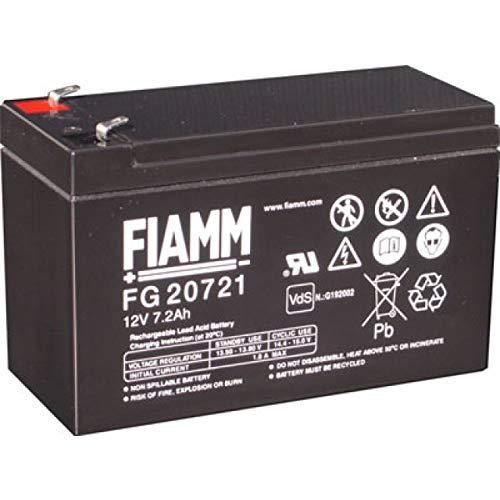 FIAMM FG207217,2Ah UPS Inverter-Akku (7,2Ah 12V Akku, 12V, 5Jahre, 2,43kg; 65mm; 94mm (S))