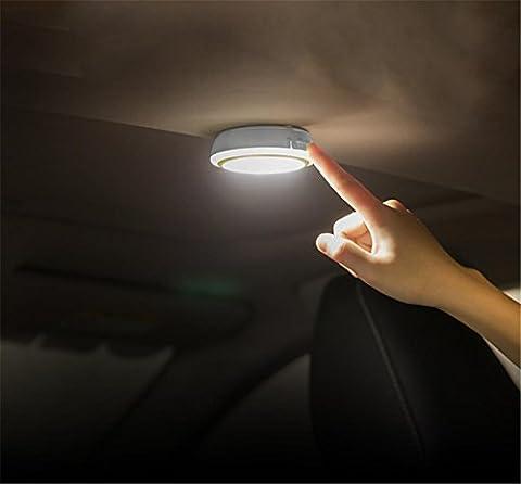 Auto SUV Taxi LED Nacht Licht Decke Kofferraum Kabellos Lampe USB Aufladen Automatisch Induktion Zum Fahrzeug Innere Zuhause Kleiderschrank Anzeigen Berühren Steuern , White Light