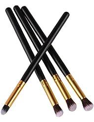 4 pièces Maquillage Outils de fard à paupières Fond de teint Pinceau estompeur
