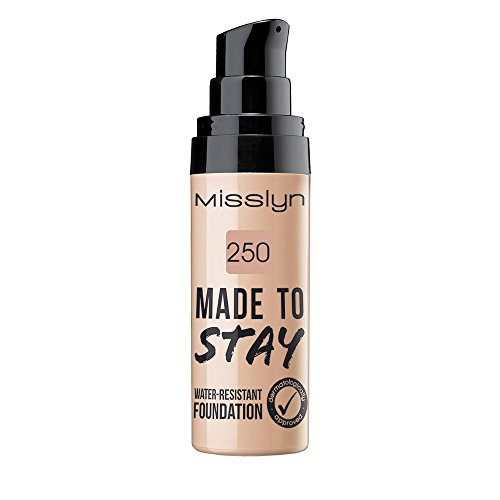 Misslyn Made To Stay Water-Resistant Foundation Nr.250 true beige, 25 ml -