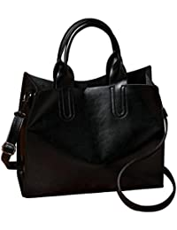 a1da3dbb44346d TUDUZ Damen PU Leder Handtasche mit Messenger Schulterriemen Kuriertasche