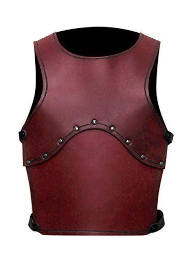 Römischen Kostüm Legion - Andracor - Handgefertigte Kinder-Krieger-Rüstung / Torso aus echtem Leder - Rot- LARP Mittelalter, Fantasy & Cosplay
