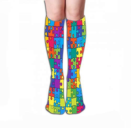 zengjiansm Hohe Socken Thin High Socks High Graduated Compression Long Socks 19.7