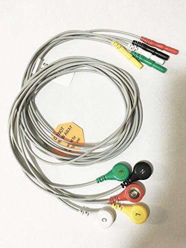 J. Holter 5ECG/EKG Kabel Patienten führen Monitor Kabel führen Snap kompatibel - Führen Ekg-kabel