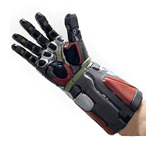 ity Gauntlet Mit LED Cosplay Tony Stark Handschuh Latex Für The Avengers Endgame Zubehör (Farbe : Silber) ()